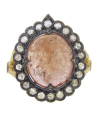 Cathy Waterman | Pink Scalloped Frame Sapphire Ring | Lyst