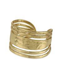 Sam Edelman | Metallic Stone Age Open Cuff Bracelet | Lyst