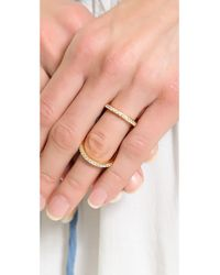 Fallon - Metallic Pave Infitiny Ring Gold - Lyst