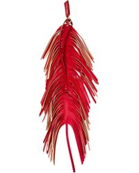 Jimmy Choo | Red Fringed Charm | Lyst