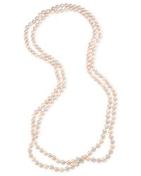 Carolee | Pink Pastel Faux Pearl Endless Strand Necklace | Lyst