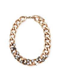 Forever 21 | Metallic Embellished Curb Chain Necklace | Lyst