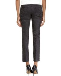 Stella McCartney - Black Snake-print Ankle Grazer Jeans - Lyst