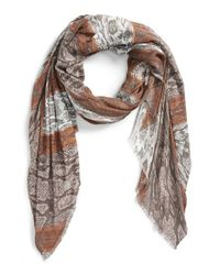 Halogen | Brown Snake Print Wrap | Lyst