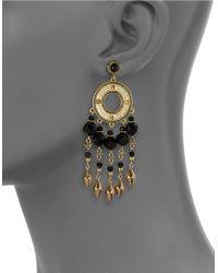 House of Harlow 1960 | Black Beaded Chandelier Earrings | Lyst