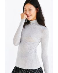 Silence + Noise - Gray Dawn Turtleneck Top - Lyst