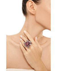 Wendy Yue - Pink Ruby and Sapphire Flower Ring - Lyst