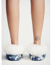 Free People - Blue Ariana Bohling Womens Winter Cabin Slipper - Lyst
