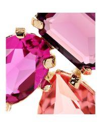 Oscar de la Renta - Multicolor Crystal-embellished Clip-on Earrings - Lyst