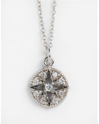 Lord & Taylor | Metallic Sterling Silver And Cubic Zirconia Compass Pendant Necklace | Lyst