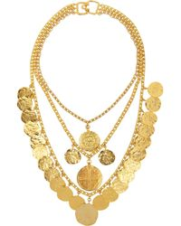 Kenneth Jay Lane | Metallic Goldplated Coin Necklace | Lyst