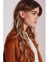 Missguided | Metallic Knot Hoop Earrings | Lyst