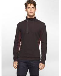 Calvin Klein - Purple White Label Ck One Colorblock Pullover Sweatshirt - Lyst