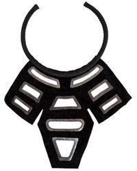 Urban Zen | Black ' Shield' Necklace | Lyst