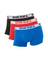DIESEL | Blue 3 Pack Solid Underwear Trunk for Men | Lyst