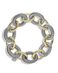 David Yurman | Metallic Oval Extra Large Link Bracelet | Lyst