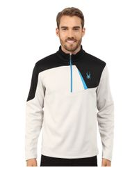 Spyder | Black Charger Therma Stretch T-neck Top for Men | Lyst