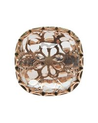 Laurent Gandini - Pink Rose Gold Maxi Bon Ton Ring - Lyst