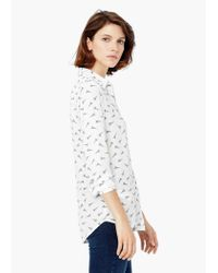 Mango - White Printed Shirt - Lyst