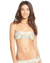 Rip Curl | Multicolor 'moon River' Bandeau Bikini Top | Lyst