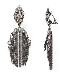 Alexis Bittar | Gray Miss Havisham Moonlight Tassel Clip On Earrings | Lyst