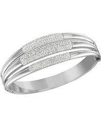 Swarovski - Metallic Cypress Bangle - Lyst