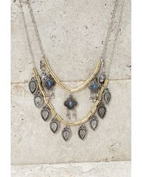 Forever 21 - Metallic Longline Layered Charm Necklace - Lyst
