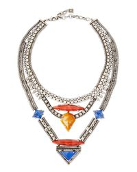 DANNIJO | Multicolor Tipton Crystal Chain Necklace | Lyst