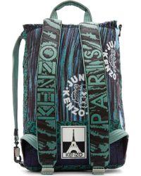 KENZO - Green Mint Signature Prints Urban Backpack for Men - Lyst