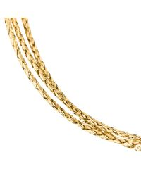 Unbranded | Metallic 9ct Yellow Gold Three Plait Bracelet | Lyst