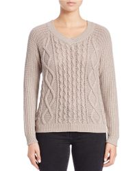 Lord & Taylor | Brown Cashmere Trapeze Sweater | Lyst