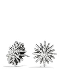 David Yurman | Metallic Starburst Small Earrings With Diamonds | Lyst