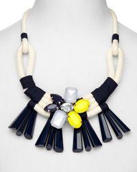 "Weekend by Maxmara - Multicolor Uniparpo Daisy Tassle Necklace, 22"" - Lyst"