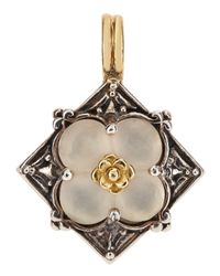 Konstantino | Metallic Diamond-Shaped Frosted Crystal Clover Enhancer | Lyst