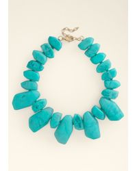 Bebe - Blue Resin Stone Necklace - Lyst