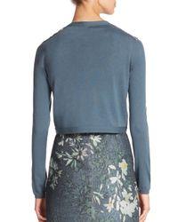 Lafayette 148 New York - Multicolor Wool Floral Cloque Shrug - Lyst
