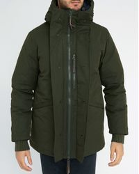 Homecore | Natural Khaki Shadow Sherpa/feather Lining Cotton Parka for Men | Lyst