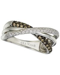 Le Vian | Chocolatier® Diamond Gladiator Band (1/2 Ct. T.w.) In 14k White Gold | Lyst