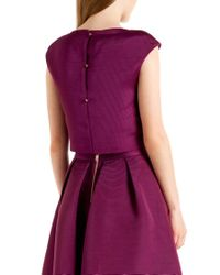 Ted Baker | Purple Klowi Ribbed Crop Top | Lyst