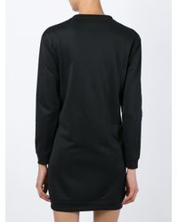 KENZO - Black Embellished Sweatshirt Dress - Lyst