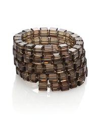 Kenneth Jay Lane | Metallic Beaded Cube Five-row Wrap Bracelet | Lyst