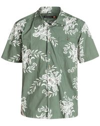Quiksilver | Green Waterman Rivieras Printed Shirt for Men | Lyst