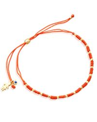 Astley Clarke - Orange Little Wonders Girl Skinny Bracelet - Lyst