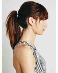 Free People - Metallic Leatherette Hair Tie - Lyst