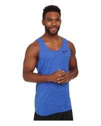 Nike - Blue Dri-fit Touch Tank for Men - Lyst