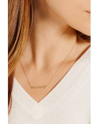 Jennifer Meyer | Metallic Mommy 18-karat Gold Diamond Necklace | Lyst
