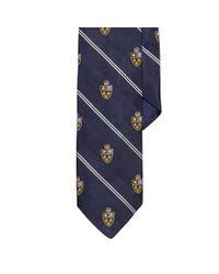 Polo Ralph Lauren   Blue Heraldic Silk Repp Tie for Men   Lyst