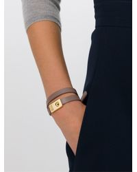 See By Chloé - Gray Double Wrap Bracelet - Lyst