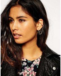 ASOS | Metallic Limited Edition Mini Circle Tassle Earrings | Lyst