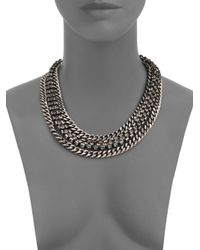 Giles & Brother - Metallic Crystal Cup Chain Necklace - Lyst